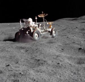 Gran Prix con el Rover lunar en el Apolo 16