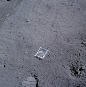 Retrato de la familia de Charlie Duke en la Luna