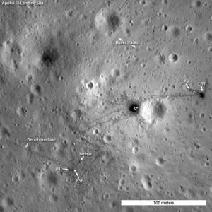 Lugar aterrizaje Apolo 16 visto por la LROC
