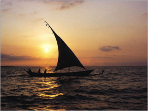 Navegando por el Lago Victoria. Safari Artístico AFRICA ETERNA. Diego Ortega Alonso Paleolitico Vivi Kenia Tanzania 2018